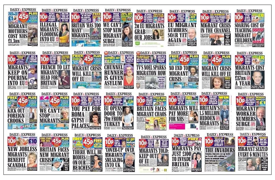 Montage of Daily Express covers