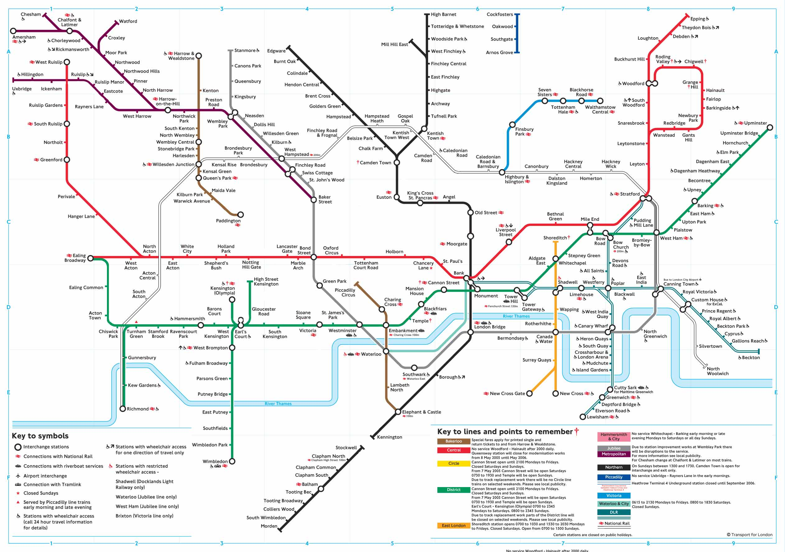 london underground map after the 7th july attacks and failed bombing attempt on the 21st july